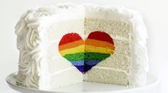 There's a surprise inside this beautiful rainbow heart cake and it's absolutely delicious!