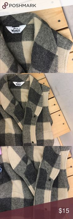 Wool Woolrich Vest Looks great if you style this with a long sleeve black, Grey, or Red shirt underneath! Definitely need this for cold winter days to stay in style. Size: M Woolrich Jackets & Coats Vests