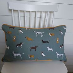 Sophie Allport Fetch Cushion Cover with Mustard Piping £12.50