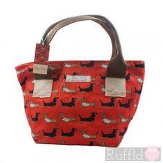 Darling Dachshund Long Rock Tote Handbag by Poppy Treffry