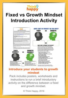 Great short activity to introduce growth mindset to Primary students. Created by Think Happy