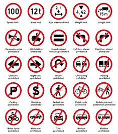 South African Road Traffic Signs Regulatory Signs, U Turn, Directional Signs, Speed Limit, Meant To Be, Logo Design, African, Image, Direction Signs