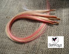 Platinum Blonde Silky Straight and Hot Pink Whisps by BethKaya, $22.00