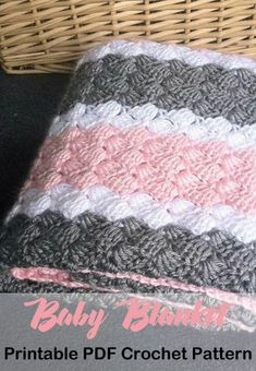 Make a striped baby blanket. This would make a great gift for a boy or girl. Crochet Baby Blanket Patterns - A More Crafty Life Make a striped baby blanket. This would make a great gift for a boy or girl. Crochet Baby Blanket Patterns - A More Crafty Life Baby Girl Crochet Blanket, Crochet Baby Blanket Free Pattern, Easy Crochet Blanket, Free Crochet, Crocheted Baby Afghans, Striped Crochet Blanket, Free Baby Blanket Patterns, Chevron Baby Blankets, Baby Girl Blankets