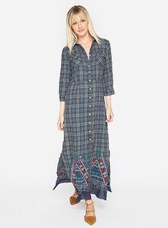 Sissa Maxi Dress With Flounce Plaid