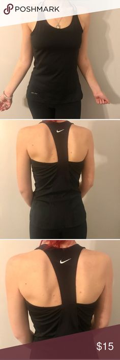 Nike dri fit top Nike dri fit racer back workout top with built in bra! Nike Tops