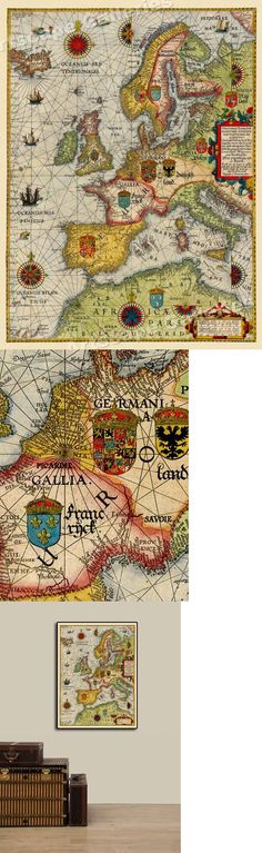 20x28 1583 Earliest European Sea Chart Historic Vintage Style Wall Map