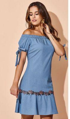 2294f930bd Las 19 mejores imágenes de vestidos camiseros de mezclilla o jeans ...