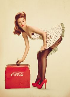 Phlearn Cola pin up art for sale at Toperfect gallery. Buy the Phlearn Cola pin up oil painting in Factory Price. Pin Up Vintage, Retro Pin Up, Estilo Pin Up Retro, Vintage Coke, 50s Pin Up, Vintage Metal Signs, Dress Vintage, Retro Style, Vintage Style