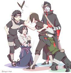 Shisui, Sasuke, Itachi, Kakashi, and Kisame Anime Naruto, Naruto Fan Art, Naruto Sasuke Sakura, Sarada Uchiha, Naruto Cute, Naruto Shippuden Sasuke, Gaara, Kakashi, Kuroko