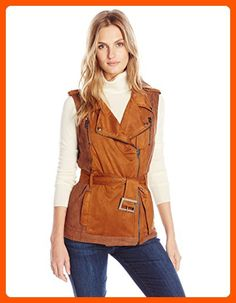 Greylin Women's Felix Ultra Suede Moto Vest, Cognac, Small - All about women (*Amazon Partner-Link)