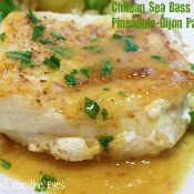 Chilean Sea Bass with Pineapple dijon pan sauce