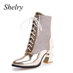 ==>>Big Save onwomen boots 2016 autumn and winter women shoes unique high heels pointed toe ankle boots lace up gold and sliver bootieswomen boots 2016 autumn and winter women shoes unique high heels pointed toe ankle boots lace up gold and sliver bootieshigh quality product...Cleck Hot Deals >>> http://id051962387.cloudns.hopto.me/32695103082.html images