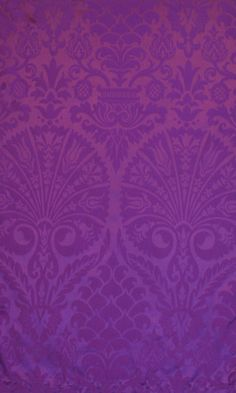 St Nicolas Purple Damask - Purple Fabrics - Textiles & Trimmings