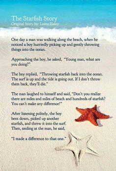 Starfish Story! My favorite story ever!