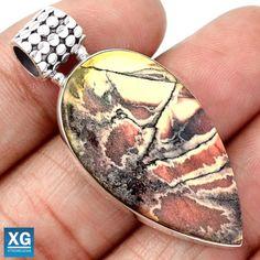 Porcelain-Jasper-925-Sterling-Silver-Pendant-Jewelry-SP95129