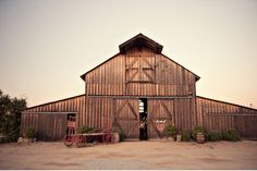 Beautiful barn reception venue. Yes & please. (Green Wedding Shoes)
