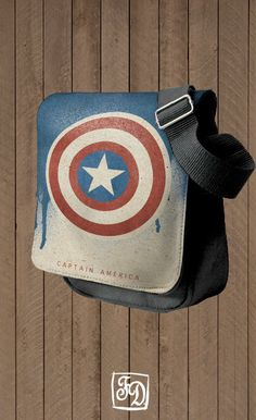 CAPTAIN AMERICA shoulder bag  The Avengers  Marvel by FeerieDoll, $30.00