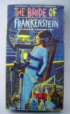 The Bride of Frankenstein boz art by James Bama for the Aurora model kit