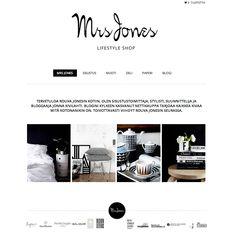 Tunnettu bloggaaja Mrs Jones sai Avaimet käteen -palvelussamme upean Lifestyle Shop -verkkokaupan.