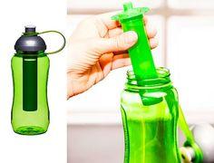 Butelka na wodę z wkładem chłodzącym marki Sagaform Home Gadgets, Water Bottle, Drinks, Nice, Drinking, Beverages, Water Bottles, Drink, Nice France