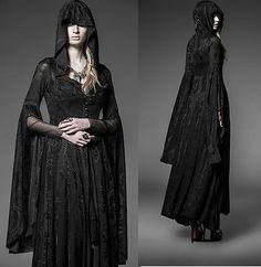 PUNK-RAVE-Dark-Arwen-Dress-Jacket-Elbenkleid-EDEL-ROMANTIC-GOTH-Hexe-Witch-Wicca | Amazing!