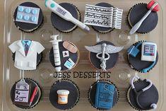medical cupcakes. great idea for nurse or doctors appreciation