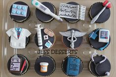 Medical decorated cupcakes - perfect for anyone in the medical profession!