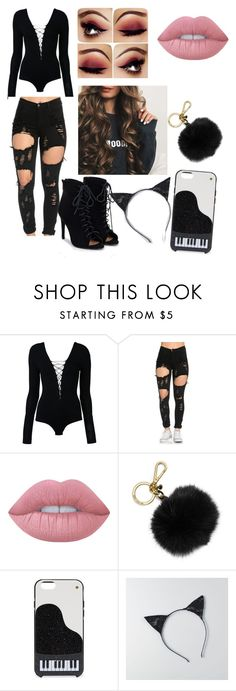 """""""hey everyone"""" by fashionselena ❤ liked on Polyvore featuring T By Alexander Wang, Lime Crime, MICHAEL Michael Kors, Kate Spade, American Eagle Outfitters and JustFab"""