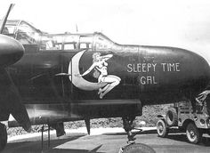 """Northrop P-61 Black Widow """"Sleepy Time Gal"""" of the 6th Night Fighter Squadron based on Saipan in 1944."""