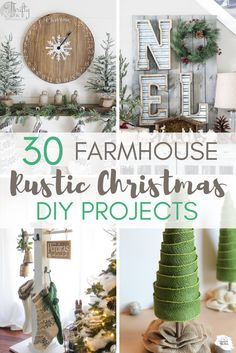 Farmhouse Christmas is the prettiest decor around! You don't have to spend a lot of money on rustic Christmas decor! Here are 30 farmhouse Christmas DIY projects you can make yourself for a fraction…More Do It Yourself Quotes, Do It Yourself Inspiration, All Things Christmas, Christmas Home, Diy Christmas Projects, Christmas Ideas, Christmas Trimmings, Christmas Brunch, Christmas Sewing