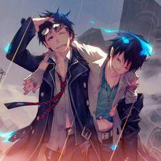 Ao no Exorcist | Blue Exorcist | Rin & Yukio Okumura | Anime | Fanart…