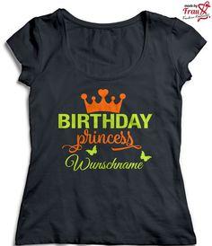 Bügelbilder - Birthday Princess + Wunschnamen 15x13,5 *Bügelbild - ein Designerstück von MadeByFrauS bei DaWanda