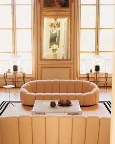 #RoomOfTheDay: In @louisvuitton creative director Nicholas Ghesquière's Paris apartment a pair of Pierre Paulin sofas from 1971 and a Gae Aulenti coffee table. Photo courtesy of Nicolas Ghesquière/The World of Interiors via NY TIMES STYLE MAGAZINE OFFICIAL INSTAGRAM - Celebrity  Fashion  Haute Couture  Advertising  Culture  Beauty  Editorial Photography  Magazine Covers  Supermodels  Runway Models