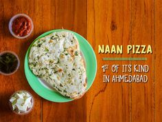 Naan Pizza - 1st of its kind in Ahmedabad only @ #WRAPICO. Address: A-9,Shilp aaron,Sindhu Bhavan road,bodakdev. Phone: 7048303033 #Food #Cafes #Pizza #FastFood #CityShorAhmedabad