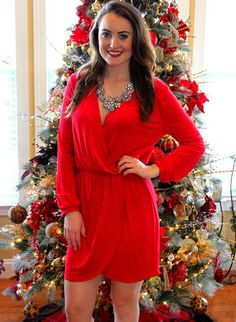It's The Most Wonderful Time Dress, Red – Sisterly Chic Boutique