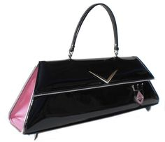 Revamped Productions Couture Vintage Car inspired Handbag Made In USA- '59 Fairlane Two-Tone Pink
