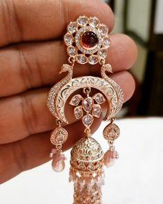 Jewelry Design Earrings, Gold Earrings Designs, Ear Jewelry, Wedding Jewelry, Indian Jewelry Sets, Traditional Earrings, Western Union, Antique Jewelry, Delivery