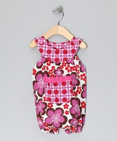 Take a look at this Brown Lilac Flower Bubble Romper - Infant by Beary Basics on #zulily today!
