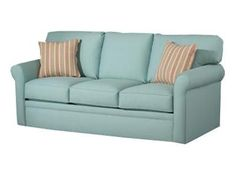 "Shop for True Sleep Queen Sleeper, 4850, and other Living Room Sofas at Oskar Huber Furniture in Southampton, PA and Ship Bottom, NJ. Back Construction: Loose Pillow. Throw Pillows: Standard. Legs: 1 1/2"" Plastic. Cover: Spectrum. Colors: Kiwi, Mist (shown), Sailor and Sand."