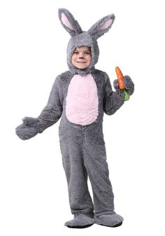 Boys Gray Bunny Costume To Amaze All On Easter