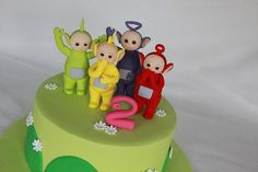 Close up of Tubbies Teletubbies Birthday Cake, Teletubbies Cake, 2 Birthday Cake, Baby 1st Birthday, Moon Pies, Paris Cakes, Fondant Tips, Gorgeous Cakes, Cakes For Boys
