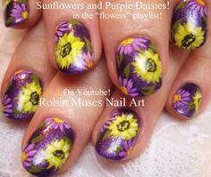 Sunflower Nail Art