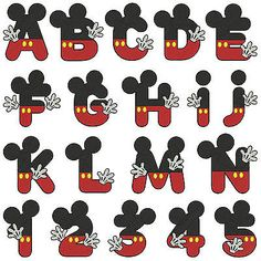 mouse crafts - Mickey Alphabet & Numbers Machine Embroidery Patterns 36 Designs In 2 Sizes & Garden Mickey Mouse Crafts, Mickey Mouse Parties, Fiesta Mickey Mouse, Mickey Par Mickey Mouse Letters, Mickey Mouse Crafts, Theme Mickey, Mickey E Minie, Fiesta Mickey Mouse, Mickey Mouse Parties, Mickey Party, Mickey Mouse Birthday, Disney Crafts