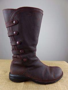 2fa9f8e1eb86 MERRELL Captiva Launch 2 Burgundy Red Waterproof Zip Boot Shoe Women 9 EU 40