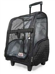 Large Roll Around Travel Dog Carrier Backpack 4-In-1 In 3 Colors By Snoozer - 3 Bird Love - 1