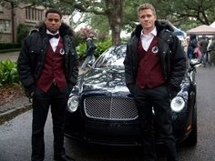 Michael Ealy and Warren Kole on the set of Common Law