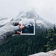 En dan zo dat foto en berg precies samenvallen...