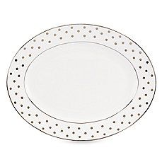 image of kate spade new york Larabee Road Platinum 13-Inch Serving Platter