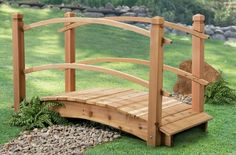 Cedar Arched Bridge, 6 FOOT by PS MFG. $499.99. Bridge the gap with this Cedar Arched Bridge. SAVE BIG! This stunner will be such an attractive, decorative addition... it will be the Golden Gate of your backyard! Place it across a small creek or stream or use it to connect a rock garden to a flower garden. It's also ideal to create a decorative area atop a wash out, a low spot or a stubborn patch of lawn that won't grow grass. This heavy-duty Bridge is constructed of...